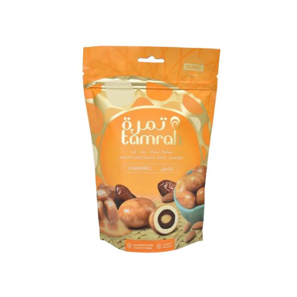 dattes aux amandes enrobées de caramel 1