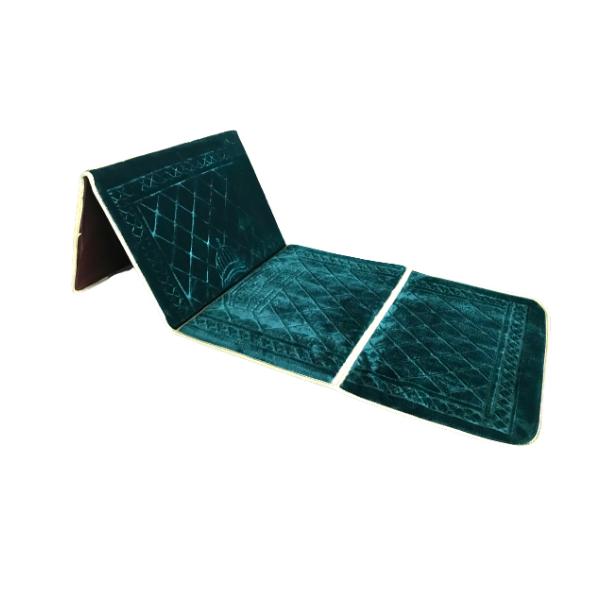 tapis de prière avec dossier vert émeraude 1