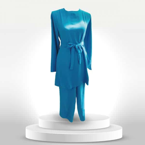 tunique et pantalon bleu pour femme