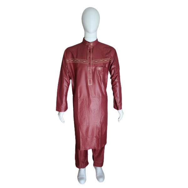 qamis pakistanais Ikaf couleur bordeaux