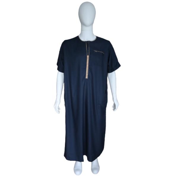 qamis Morocco style bleu nuit 1